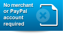 No Merchant Paypal account required